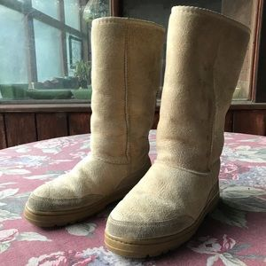 UGG Boots Classic Tall W S-7 Tan Suede